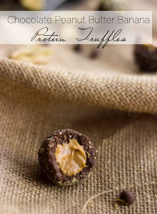 Chocolate Peanut Butter Banana Protein Truffles - Food Faith Fitness