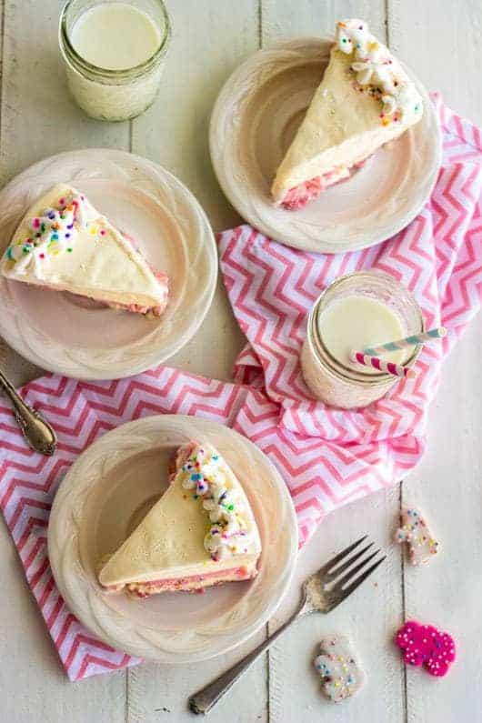 Ice Cream Cake with Circus Animal Crust {Lightened Up} - Food Faith Fitness