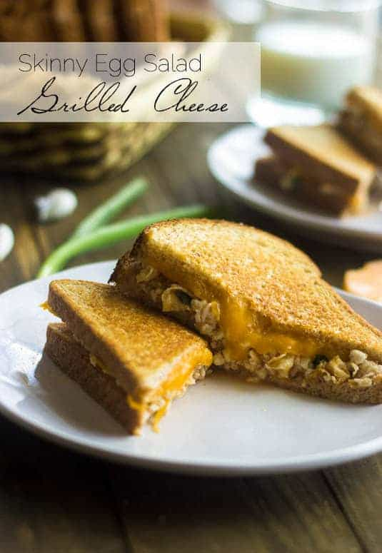 Skinny Egg Salad Grilled Cheese - Food Faith Fitness