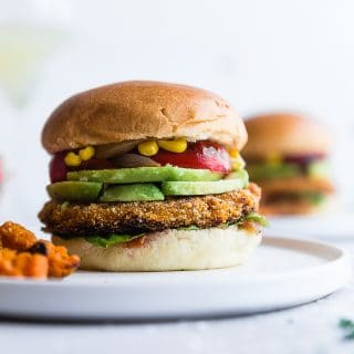 Easy Homemade Sweet Potato Veggie Burgers