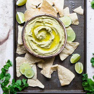 Cilantro Jalapeno Hummus Recipe without Tahini