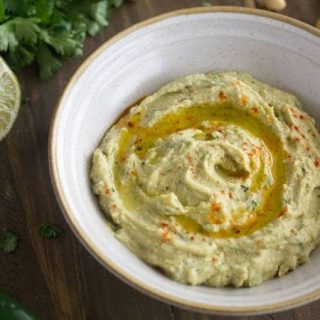 Hummus Recipe with Jalapeno and Lime {Gluten free, Low fat + Super Simple}