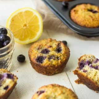 Gluten Free Muffins with Blueberries, Lemon and Poppyseeds {Paleo}