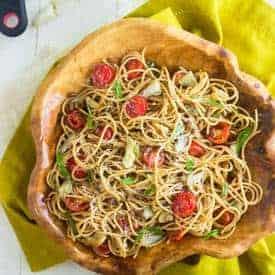 Artichoke Pasta Salad with Lemon Vinaigrette