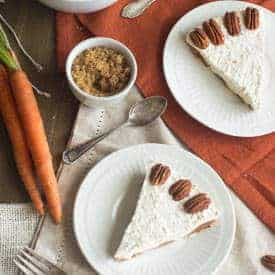 Skinny Frozen Carrot Cake Cheesecake