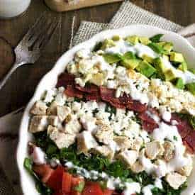 Skinny Cobb Salad - Food Faith Fitness