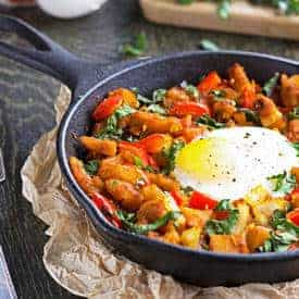 Squash, Pepper and Kale Hash - Food Faith Fitness