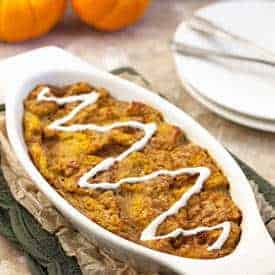 Pumpkin Pie French Toast Casserole