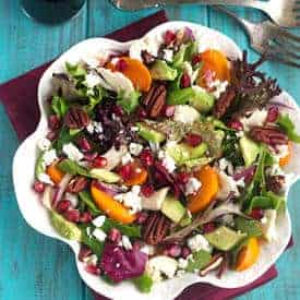 Pomegranate Persimmon Salad - Food Faith Fitness