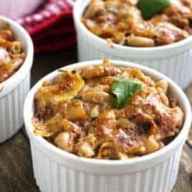 Healthier BBQ Pulled Pork Mac 'N Cheese