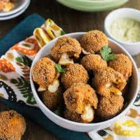 Cheesy Buffalo Chicken Potato Poppers