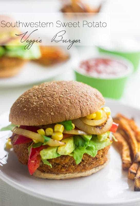Southwestern Sweet Potato Veggie Burger {Vegan} - Food Faith Fitness