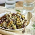 Grilled Red Potato Salad with Sausage and Ranch  {Low fat , GF + High Protein}