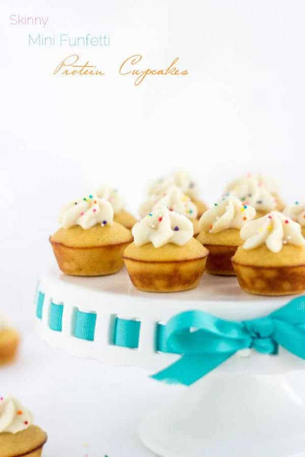 Mini Protein Cupcakes With Funfetti Icing Under 100