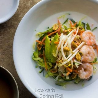 Spring Roll Zucchini Noodle Bowls {Gluten Free, Low Carb/Fat, High Protein, Super Simple}