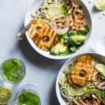 Grilled Tropical Chicken Bowls