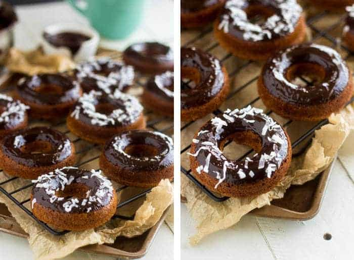 Baked Almond Joy Donuts - Like an Almond Joy and a Donut. Combined. And they're #glutenfree! | Food Faith Fitness| #donut #recipe