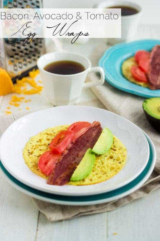 Egg Breakfast Wraps With Avocado Bacon And Tomato Food Faith Fitness