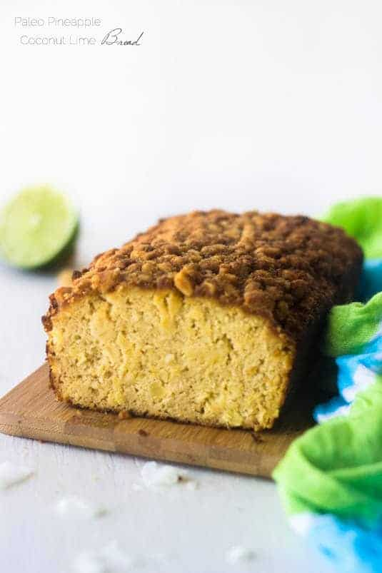 Paleo Pineapple Lime Coconut Bread -Seriously, this is SO good! | Food Faith Fitness | #recipe #paleo #healthy