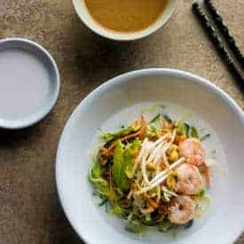 Spring Roll Zucchini Noodle Bowls