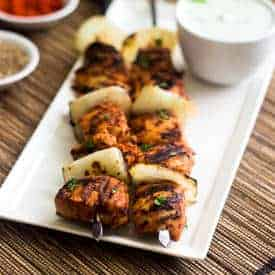 Spicy Tomato Grilled Chicken Kebab