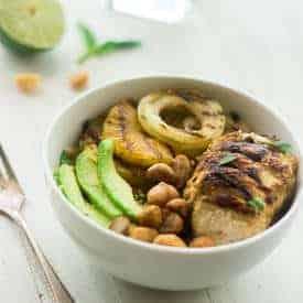 Grilled Mojito Chicken Quinoa Bowls