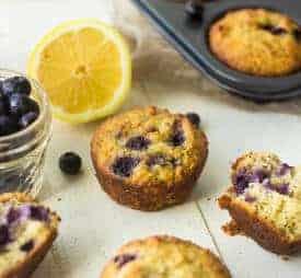 Paleo Lemon Blueberry Poppyseed Muffins