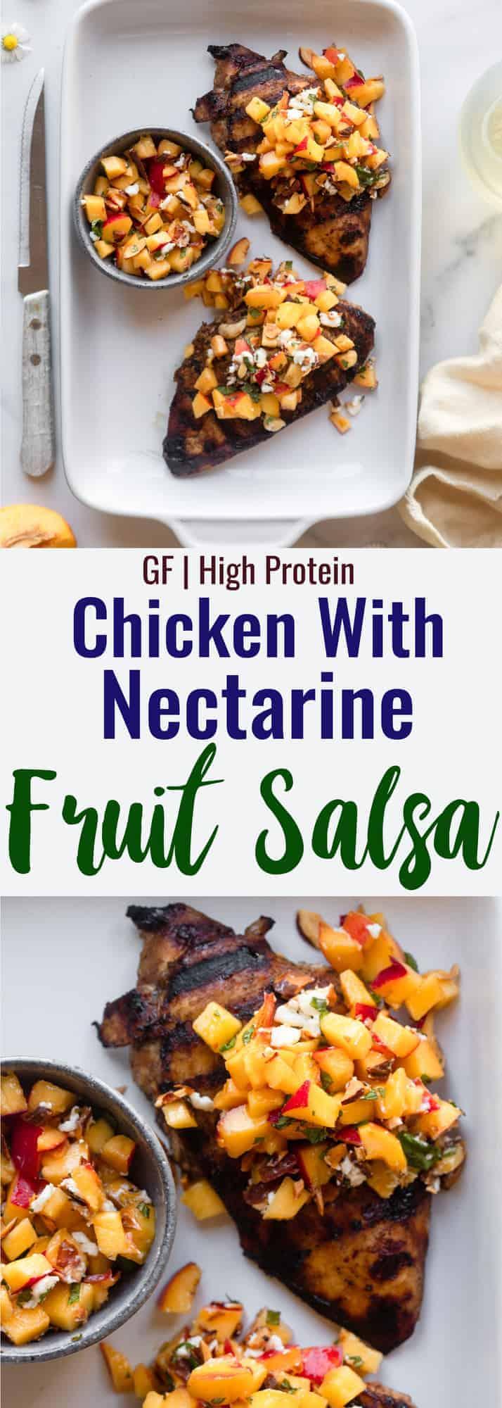 Nectarine Fruit Salsa collage photo