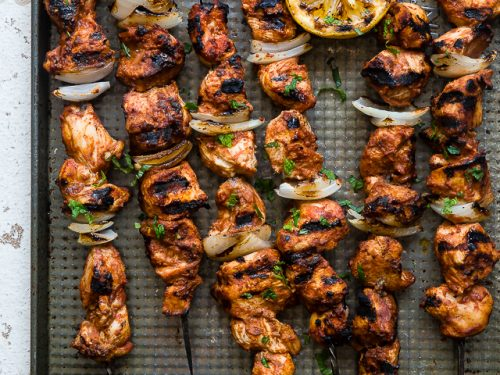 Tomato Grilled Moroccan Chicken With Yogurt Mint Sauce
