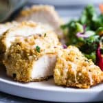 Quinoa Crusted Chicken with Goat Cheese
