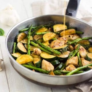 Honey Mustard Chicken Stir Fry {Low Fat, High Protein, GF + Super Simple}