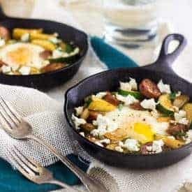 Goat Cheese and Zucchini Hash