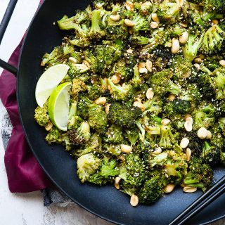 Air Fryer Roasted Asian Broccoli