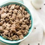 Protein Puppy Chow Recipe {High Protein, GF, Naturally Sweetened + Super Simple}