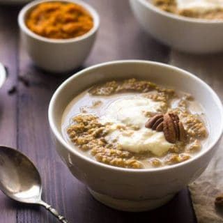 Breakfast Quinoa Recipe with Pumpkin and Whipped Ricotta {GF, Low Fat, Vegetarian + Super Simple}
