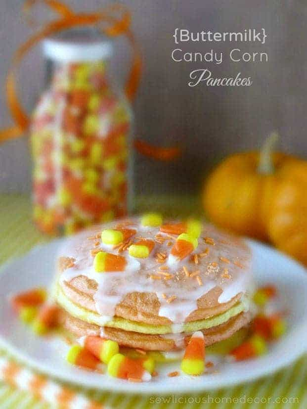 Buttermilk Candy Corn Pancakes