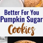 pumpkin sugar cookies collage photo