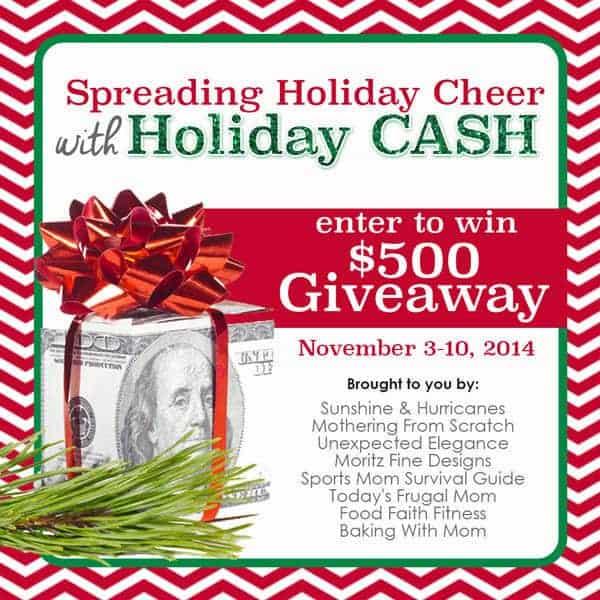 Holiday Cash Giveaway - Foodfaithfitness.com