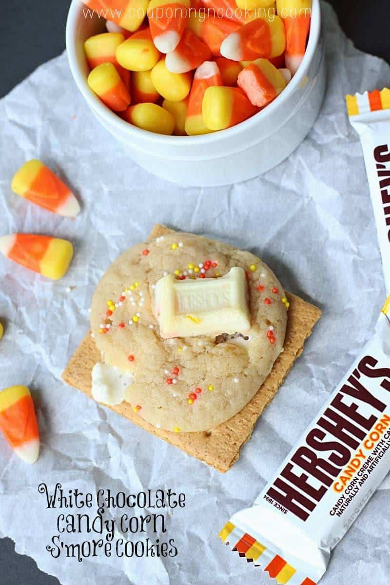 Candy Corn S'mores Cookies