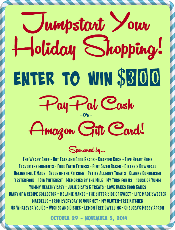 Jump start your holiday season giveaway - Foodfaithfitness.com