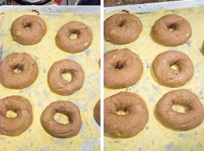 Copy Cat Panera Cinnamon Crunch Bagels - The AMAZING bagels have been healthier, with no butter, but all the crunchy goodness! | Foodfaithfitness.com | #recipe