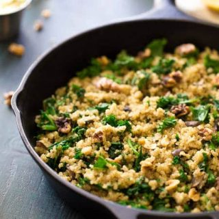 Kale And Quinoa Skillet with Mushrooms and Herbs