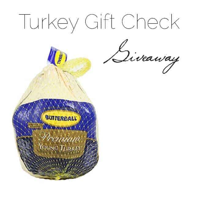 Turkey Gift Check Giveaway | Foodfaithfitness.com |