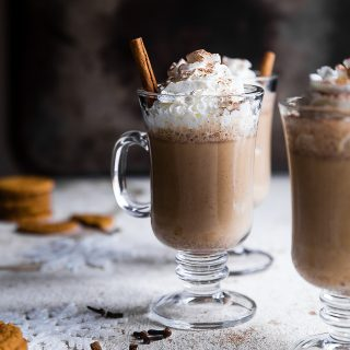 Ginger Snap Cookie Steamer Drink