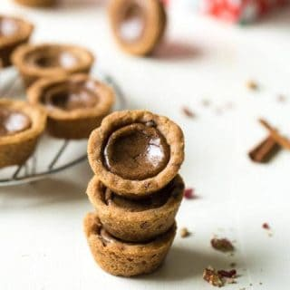 Shortbread Cookie Cups with Brown Sugar Cinnamon Filling {Whole Wheat}