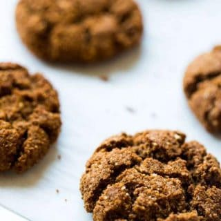 Healthy Ginger Snap Recipe + Paleo Christmas Cookies