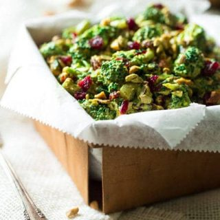 Healthy Broccoli Salad with Cashew Curry Dressing {Paleo, Gluten Free +  Super Simple}