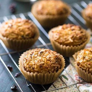 Protein Muffins with Quinoa, Prunes, Dates and Coconut