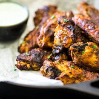 Tandoori Crispy Baked Chicken Wings {GF, High Protein + Super Simple}