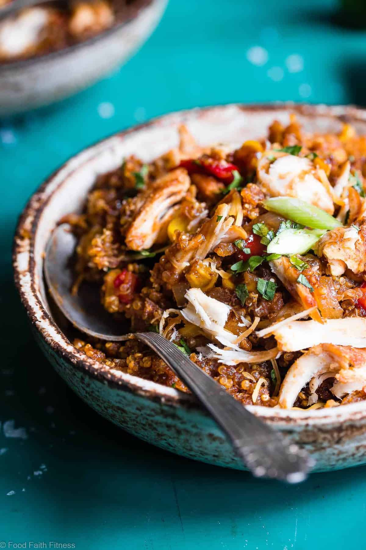 Healthy Bbq Chicken Quinoa Casserole Food Faith Fitness